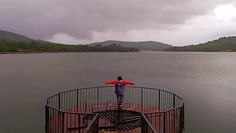Amthane Dam and Reservoir, Bicholim, Goa, India