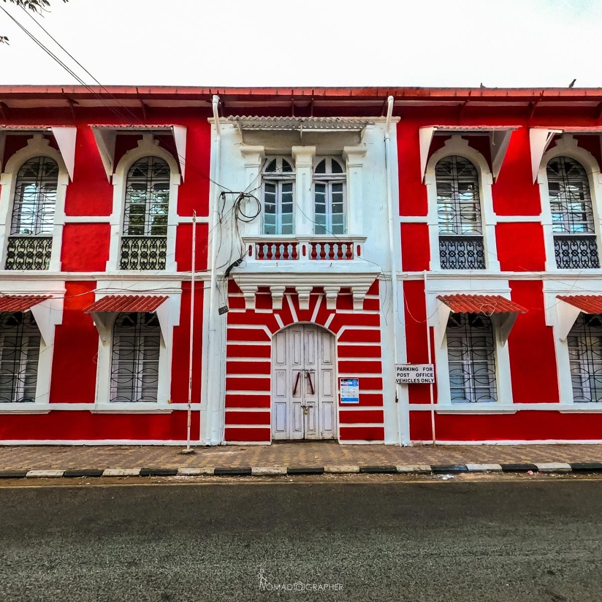 Panjim GPO building at Tobacco Square, Fontainhas